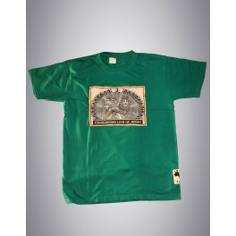 "T-shirt vert homme - Icom ""Conquering Lion Of Judah"""