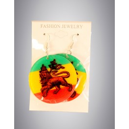 Boucles d'oreilles rondes lion of judah